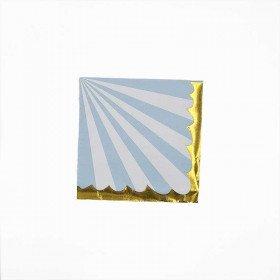 serviette rayure bleu pastel et blanche