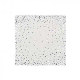 Serviette papier blanche poussière argent