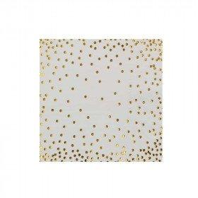 Serviette papier blanche poussière or