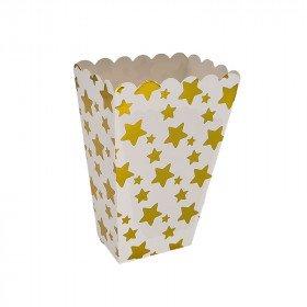 Boite pop corn étoiles or x6