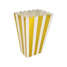 Boite pop corn  à rayures...