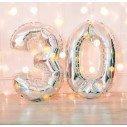ballons chiffres anniversaire