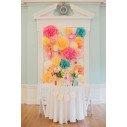 Pompons Fleurs en Papier mariage