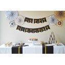 Déco anniversaire adulte noir et or