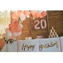 Décoration anniversaire rose gold