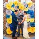 Rosaces en papier mariage