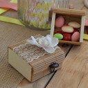 Coffres à dragées en bois, bambou